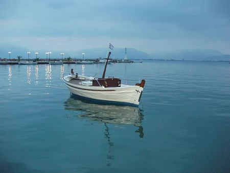 nauplio: Traditional fishing boat - Nauplio, Greece