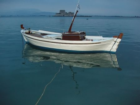 nauplio: Small traditional greek fishing boat - Nauplio, Greece