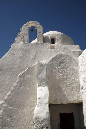 cycladic: Tradizionale Cycladic chiesa greco-ortodossa - Mykonos, Grecia