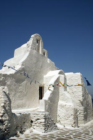 cycladic: Tradizionale Cycladic chiesa greco-ortodossa