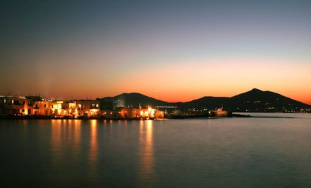 View of the town of Naoussa on Paros Island, famous for its night life and cosmopolitan crowd - Greece photo