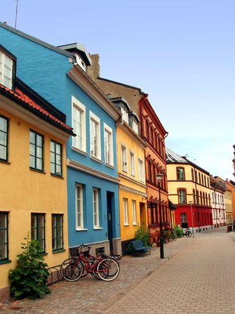Calle del casco antiguo de Malm� - Suecia  Foto de archivo