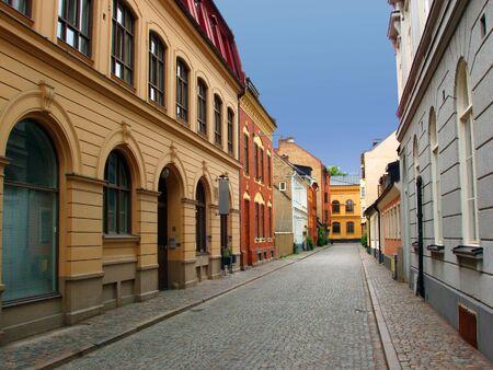 Calle del casco antiguo de la ciudad de Malm� - Suecia