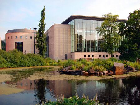 The modern public library of Malmo - Sweden