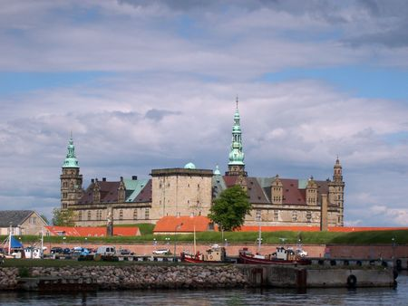 Kronborg castle in the town of Helsingor, Denmark      Stock Photo