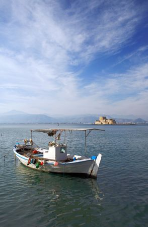 nauplio: Traditional greek fishing boats - Nauplio, Greece