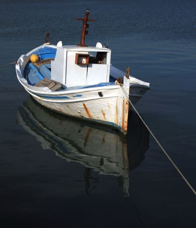 nauplio: Traditional greek fishing boat  - Nauplio, Greece