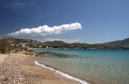archtecture: One of the many beaches of the popular island of Paros, Greece