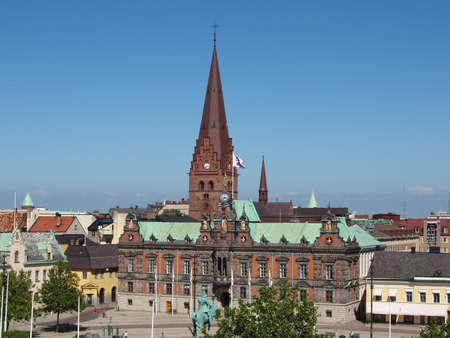 central square: Malmo, Svezia. Piazza centrale della citt�.