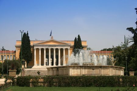 accession: Facade of Zappeion building.  The Zappeion was used during the 1896 Summer sports competitions as the main Fencing Hall. A decade later, at the 1906 Summer sports competitions, it was used as the sports competition Village.  A number of historical events have taken place at the Zappeion, including the signing of the documents formalizing Greeces accession to the European Union on January 1, 1981, which took place in the buildings marble-clad, peristyle main atrium. Unfortunately for its benefactor, Evangelos Zappas, he did not live long enough to see the Zappeion built