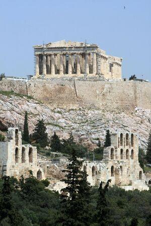 Grecia - Vista de la Acr�polis y el teatro Herodus Atticus