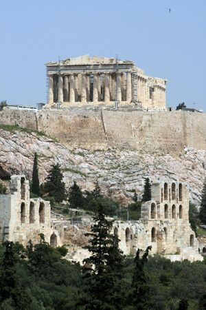 Greece - View of the Acropolis and the Herodus Atticus Theatre
