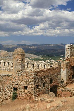 nafplio: Greece.  Palimidi fort in Nafplio Stock Photo
