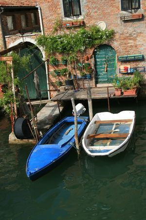 Home entrance on a canal in Venice, Italy Stock Photo - 3616575