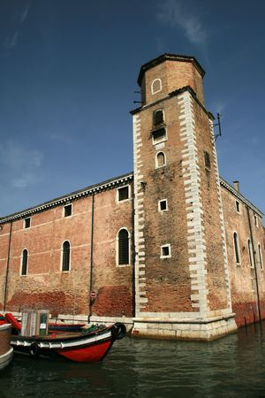 arsenal: Tower and walls of the fortification of the Arsenal in Venice, Italy
