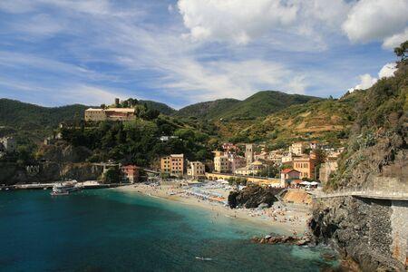 Monteroso, uno de los cinco pueblos de las Cinque Terre en Italia