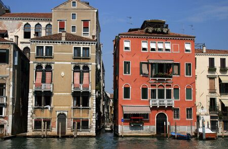 Grand Canal homes of  Venice, Italy Stock Photo - 3813754