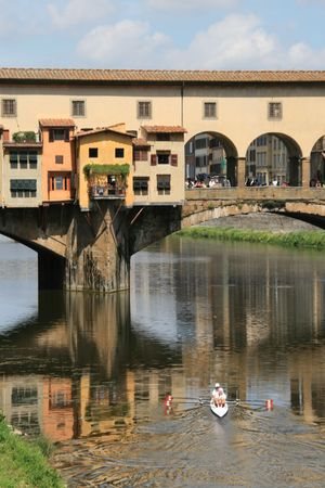 Ponte Vechio in Florence  Stock Photo