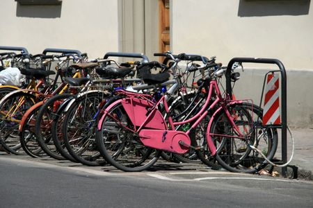 Bicycles in Florence Italy