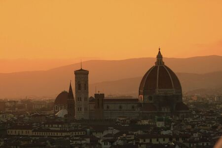 The dome of the cathedral Santa Maria del Fiore known as the Duomo in Florence, Italy Stock Photo