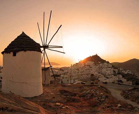 ios: Windmill, Greece, Island of Ios