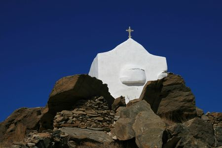 archtecture: Greece, Greek orthodox church, Island of Ios