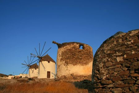 archtecture: Greece, Island of Ios, Windmills