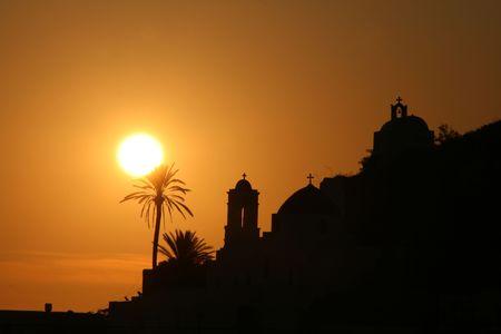 Ios Grecia en Sunset