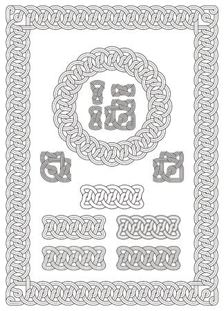 ledge: ornament, knot, stonemason, carving, fretwork, engrave, border