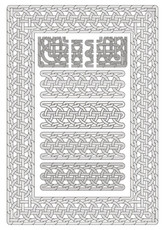 fretwork: ornament, knot, stonemason, carving, fretwork, engrave, border