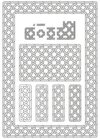 grecas: adorno, nudo, albañil, tallado, calado, grabado, frontera