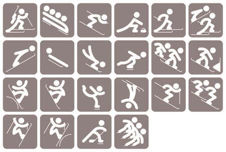sports icon: deportes de invierno icono conjunto