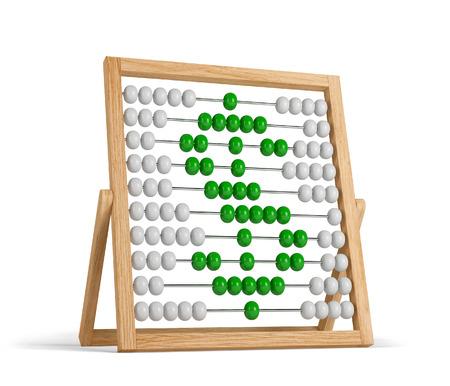 dollar symbol in abacus