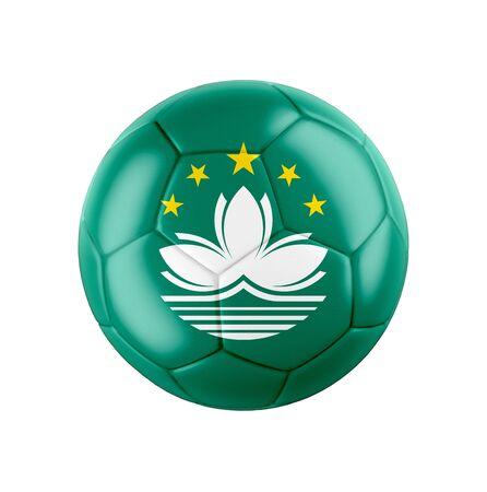 Soccer football ball with flag of Macau
