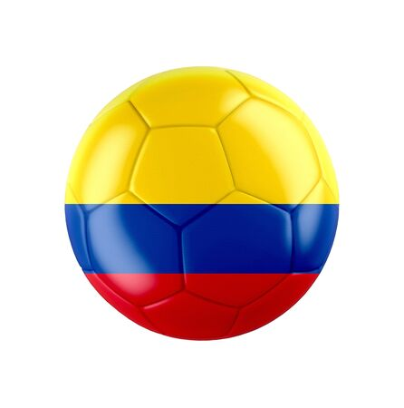 Soccer football ball with flag of Colombia