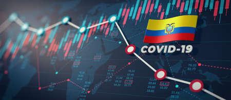 COVID-19 Coronavirus Ecuador Economic Impact Concept Image.