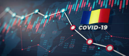 COVID-19 Coronavirus Romania Economic Impact Concept Image.
