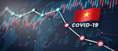 COVID-19 Coronavirus Vietnam Economic Impact Concept Image.