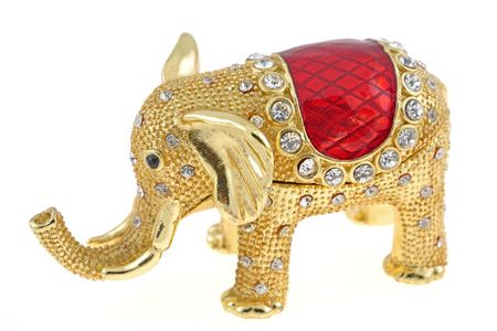 Jewelry box in form of an elephant miniature Stock Photo