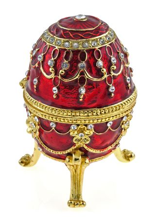 Jewelry box in form of an faberge egg