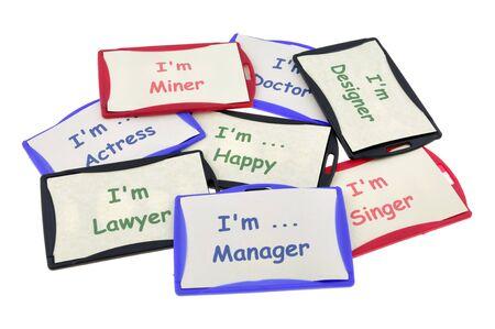 Profession identification cards
