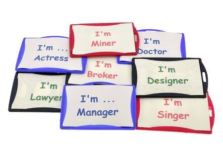 Profession identification cards