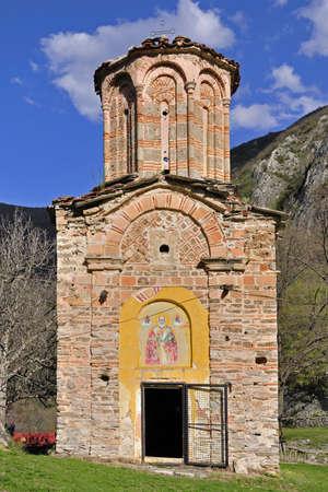 Old church from XVI century - St. Nikola Sisevski at canyon Matka, Skopje, Macedonia