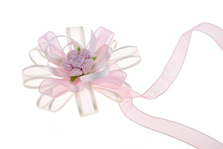 Beautiful bridesmaid hand tie isolated on white background