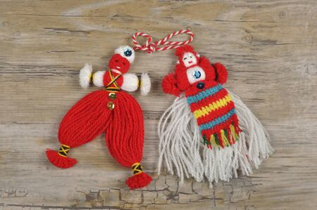 Martenitsa - traditional bulgarian homemade decoration for welcoming spring