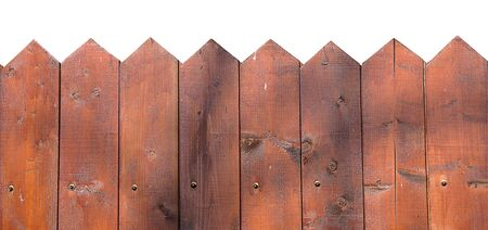Wooden fence isolated on white copy space