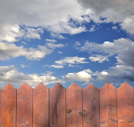 Wooden fence and a beautiful sky Stock Photo - 9212840