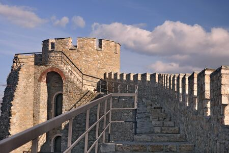 Medieval Fortress also known as Kale near Skopje Stock Photo