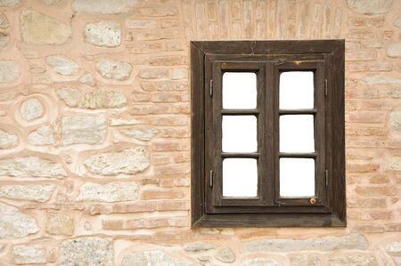 Wall and window with white copy space  Stock Photo