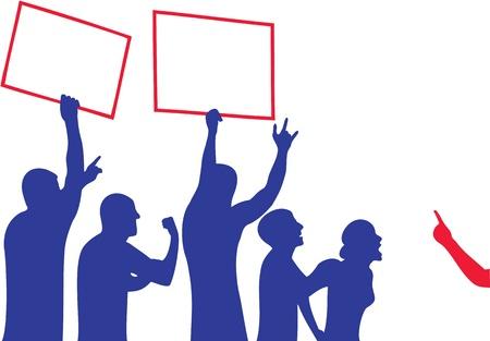 Protesta - illustrazione silhouette